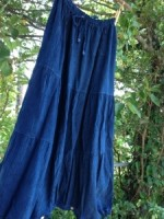 新色∞藍染め∞カディ2WAYスカートパンツ☆*・゜゚・*