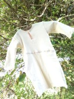 新商品☆オーガニックコットン∞ロータス女神1歳児ロングTシャツ☆..*にパッチワークタイプが誕生しました☆