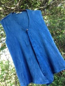 オーダーメイド作品☆Organic cotton Kiyoshiくん藍染めタンクトップ☆*・゜゚・*:.。:*・゜゚・*