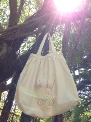 商品☆Organic Cotton 愛の手 Shopping Bag☆*・゜゚・*