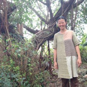 商品☆Hemp&Cotton草木染めパッチワークプルオーバーを素敵に着てくれてます☆*・゜゚・*