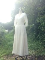Yukiさんウエディングドレス∞Organic cotton&Rinen Wedding dress☆*・゜゚・*:.。..。.:*