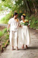 Yukiさん∞Organic Cotton & Linen Wedding Dress☆を創らせていただきました♡*・゜゚・*∞Kouheiさん麻パンツ♡