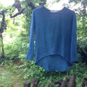 オーガニックコットン&オーガニックヘンプ草木染め8分袖Tシャツをアレンジさせてもらいました☆
