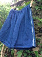 商品☆Organic Cotton 手紡ぎ∞手織り∞藍染め 光の雫ポケットKid'sパンツ∞