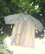 オーガニックコットン手縫いベビー短肌着∞長袖タイプ