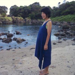 妊婦さんが着る∞オーガニックコットン∞手紡ぎ∞手縫い∞手縫い∞サイドロングワンピース☆
