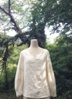 Hemp&Cotton∞バルーン袖シャツ∞☆オーダーメイド服を創らせていただきました☆