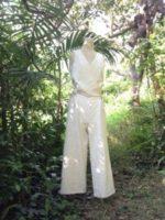 オーダーメイド服∞オーガニックコットン手紡ぎ∞手織りのつなぎ衣を創らせていただきました☆*・゜゚・*